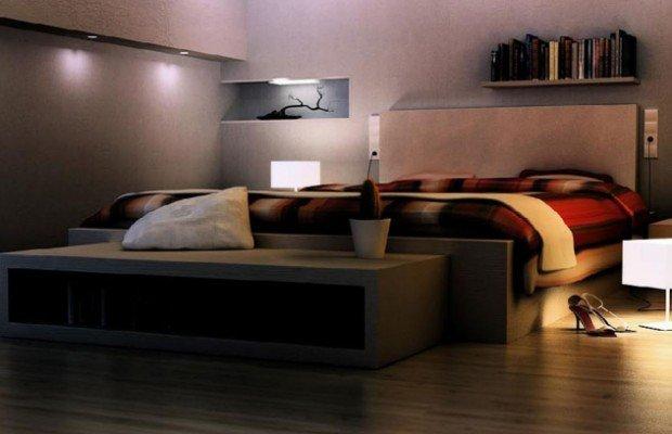 3. Để đèn ngủ thật mờ, khiến phòng ngủ tối và dễ chịu. 1
