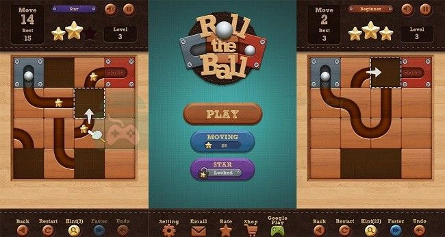 Roll the ball - Slide Puzzle 1