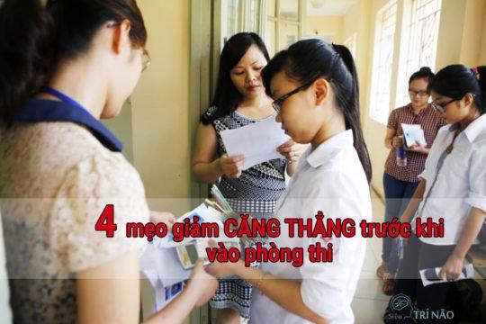 4 mẹo giảm căng thẳng trước khi vào phòng thi
