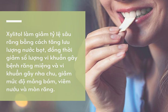 Nhai kẹo cao su xylitol có tốt không?
