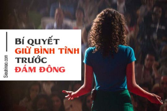 Cách giữ bình tĩnh khi nói trước đám đông